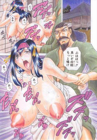 【エロ漫画】白桃はバックで爆乳を揺らしながら激しく突かれ、パイズリで精子 ぶっかけられている!【無料 エロ同人】